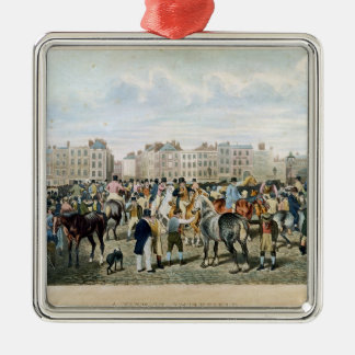 A View in Smithfield engraved by F.C. & C. Lewis Silver-Colored Square Decoration