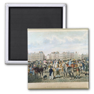 A View in Smithfield engraved by F.C. & C. Lewis Square Magnet