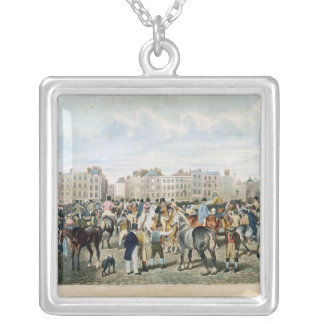 A View in Smithfield engraved by F.C. & C. Lewis Square Pendant Necklace
