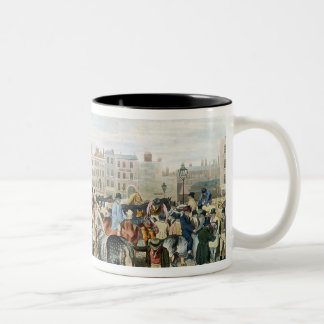 A View in Smithfield engraved by F.C. & C. Lewis Two-Tone Coffee Mug