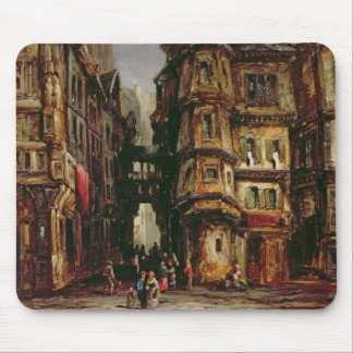 A View in the Jewish Quarter, Frankfurt, 1877 (oil Mouse Pad