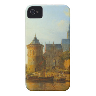A View of a Town along the Rhine by Cornelis Sprin iPhone 4 Cases