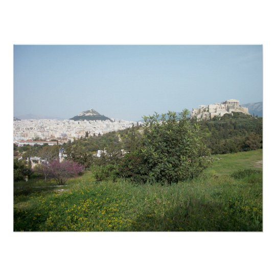 A view of Acropolis from Pnyx Poster