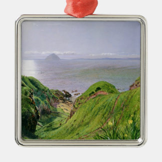 A View of Ailsa Craig and the Isle of Arran, 1860 Christmas Ornament