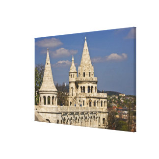 A view of Budapest from Castle Hill. Canvas Print