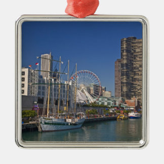 A view of Chicago's Navy Pier 2 Christmas Ornament