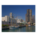 A view of Chicago's Navy Pier 2 Poster