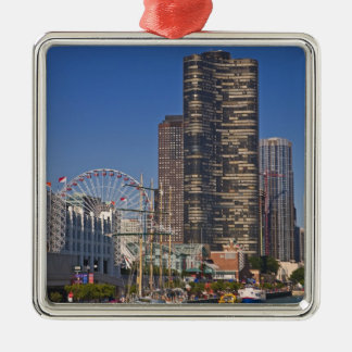 A view of Chicago's Navy Pier Christmas Ornament