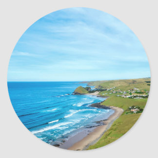 A view of Hole in the Wall on the Wild Coast Round Sticker