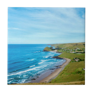 A view of Hole in the Wall on the Wild Coast Small Square Tile