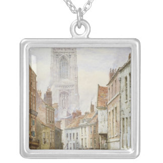 A View of Irongate, Derby Silver Plated Necklace