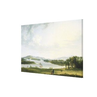 A View of Knock Ninney and Part of Lough Erne from Canvas Print