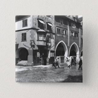 A view of Lindau, c.1910 15 Cm Square Badge