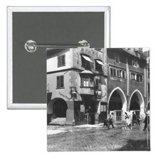 A view of Lindau, c.1910 15 Cm Square Badge