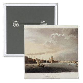 A View of London from the Thames, 1809 15 Cm Square Badge