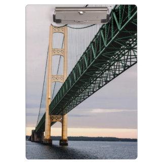 A view of Mackinac Bridge from Lake Michigan 2 Clipboards