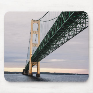 A view of Mackinac Bridge from Lake Michigan 2 Mouse Mat