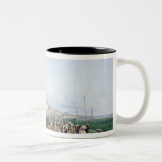 A View of Margate from the Pier, 1868 Two-Tone Coffee Mug