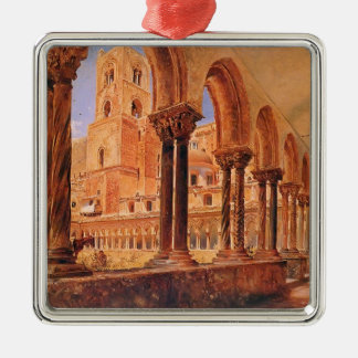 A View Of Monreale Above Palermo by Rudolf von Alt Christmas Ornaments
