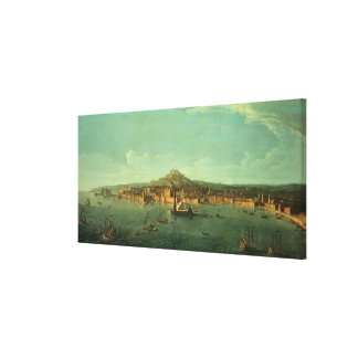 A View of Naples, 17th century Canvas Print
