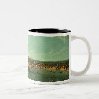 A View of Naples, 17th century Two-Tone Coffee Mug