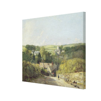 A View of Osmington Village with the Church and Vi Canvas Print