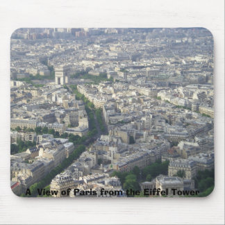 A  View of Paris from the Eiffel Tower Mouse Mat