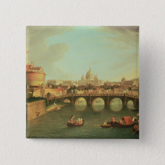 A View of Rome 15 Cm Square Badge