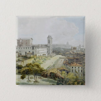 A View of Rome taken from the Pincio, 1776 (w/c ov 15 Cm Square Badge