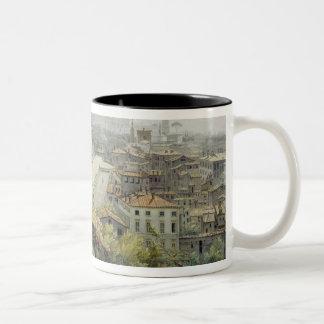 A View of Rome taken from the Pincio, 1776 (w/c ov Two-Tone Coffee Mug