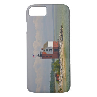 A view of Round Island Light Station. iPhone 8/7 Case