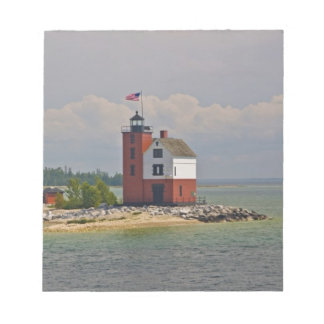 A view of Round Island Light Station. Notepad