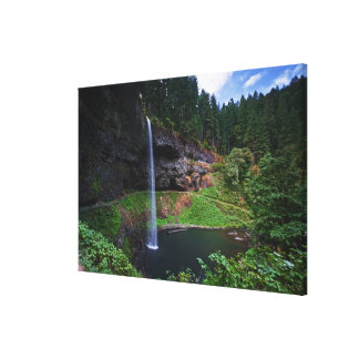 A view of South Falls in Silver Falls State Park Stretched Canvas Print
