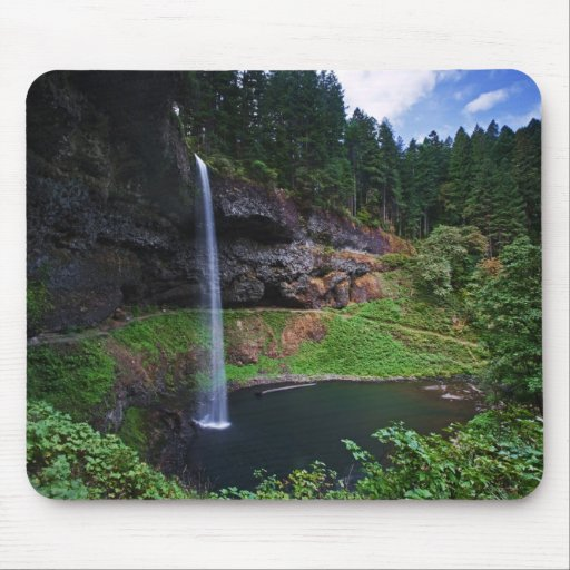 A view of South Falls in Silver Falls State Park Mousepad