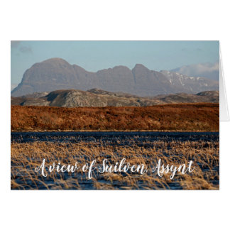 A view of Suilven, Assynt, personalised Card