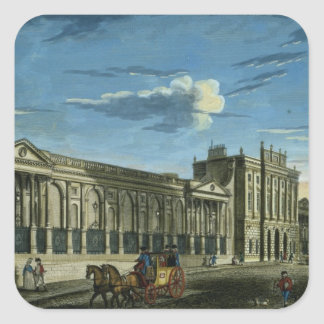 A View of the Bank of England, Threadneedle Street Square Sticker