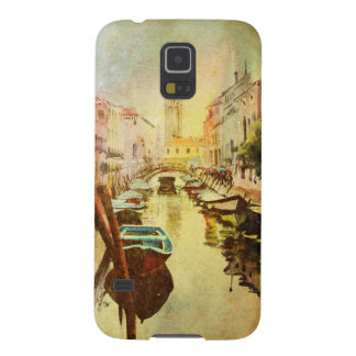 A View Of The Canal With Boats And Buildings Case For Galaxy S5