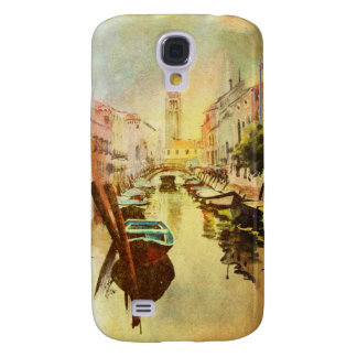 A View Of The Canal With Boats And Buildings Galaxy S4 Case