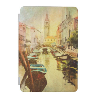 A View Of The Canal With Boats And Buildings iPad Mini Cover