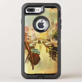 A View Of The Canal With Boats And Buildings OtterBox Defender iPhone 8 Plus/7 Plus Case