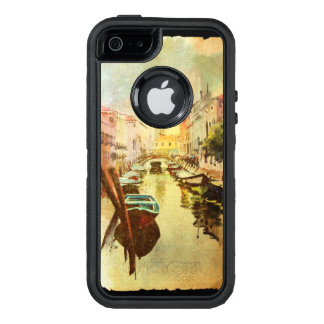 A View Of The Canal With Boats And Buildings OtterBox Defender iPhone Case