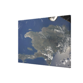 A view of the Caribbean island of Hispaniola Canvas Print