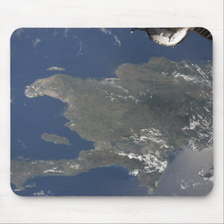 A view of the Caribbean island of Hispaniola Mouse Mat