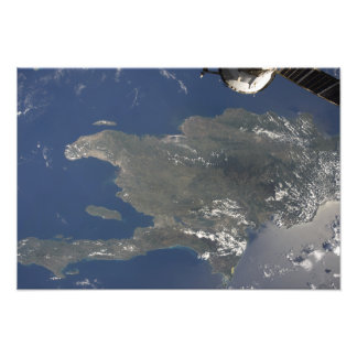 A view of the Caribbean island of Hispaniola Photograph