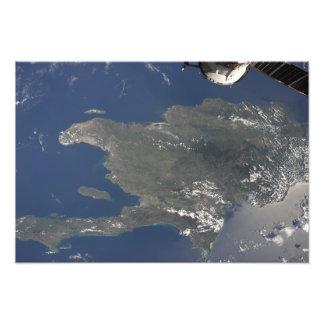 A view of the Caribbean island of Hispaniola Photo Print