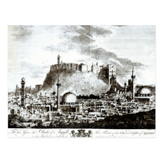 A view of the city and castle of Aleppo, Syria Postcard