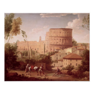 A View of the Colosseum with a Traveller, 1731 (oi Poster