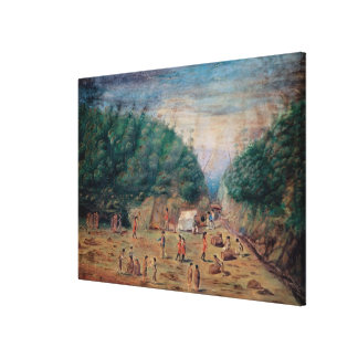A View of the 'Endeavour's' Watering Place Canvas Print