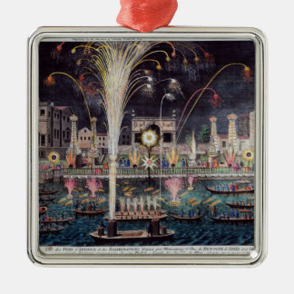 A view of the Fire-workes and Illuminations Christmas Ornament