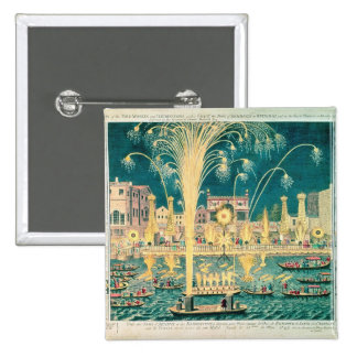 A View of the Fireworks and Illuminations 15 Cm Square Badge